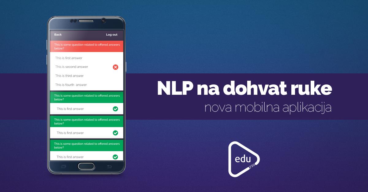 NLP na dohvat ruke – nova mobilna aplikacija