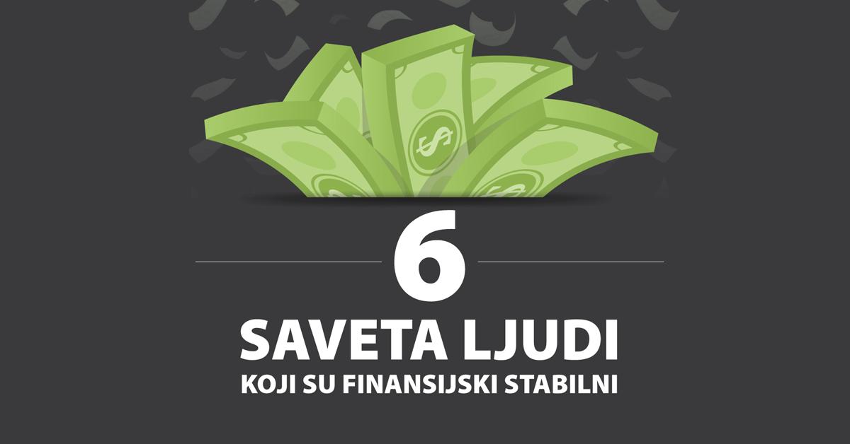 INFOGRAFIK 6 saveta ljudi koji su finansijski stabilni