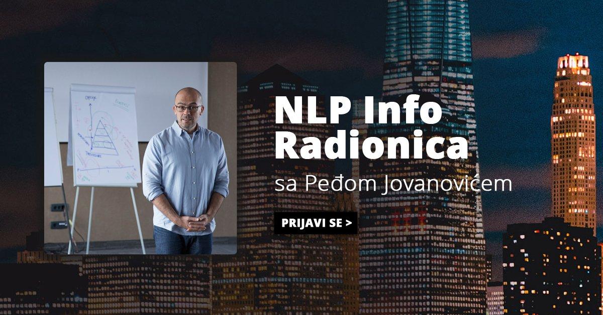 NLP Info radionica sa Peđom Jovanovićem