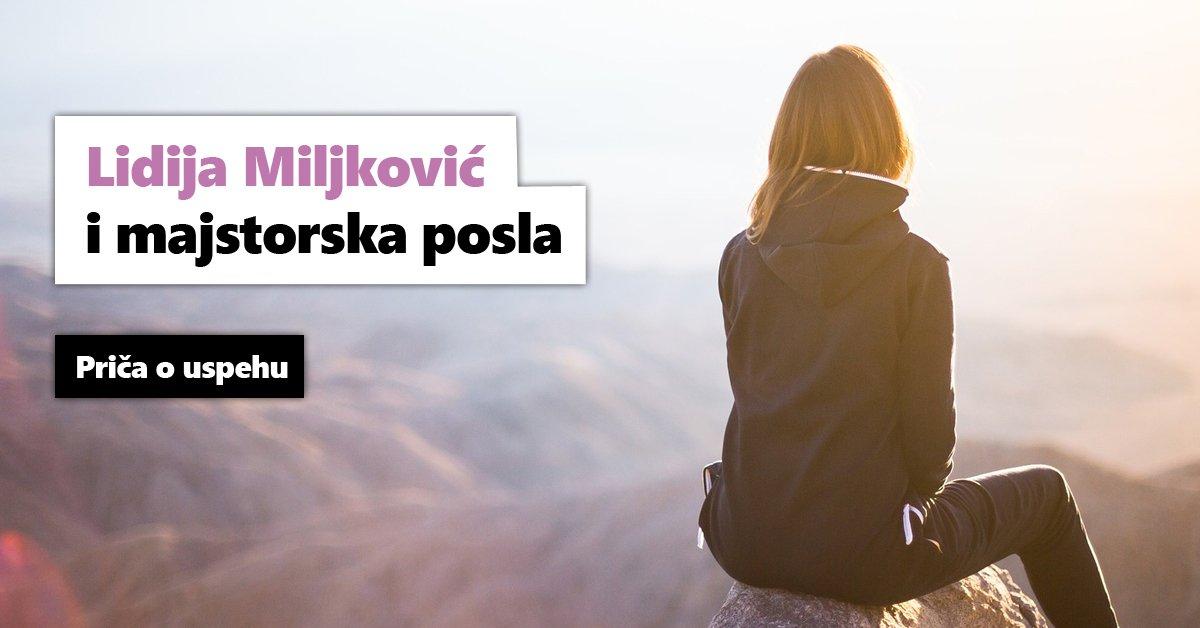 Lidija Miljković i majstorska posla, priča o uspehu